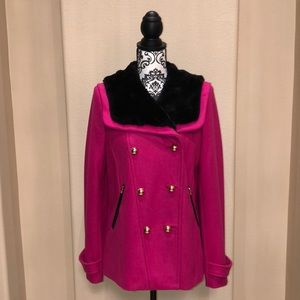 New Pink Juicy Couture Wool Short Coat